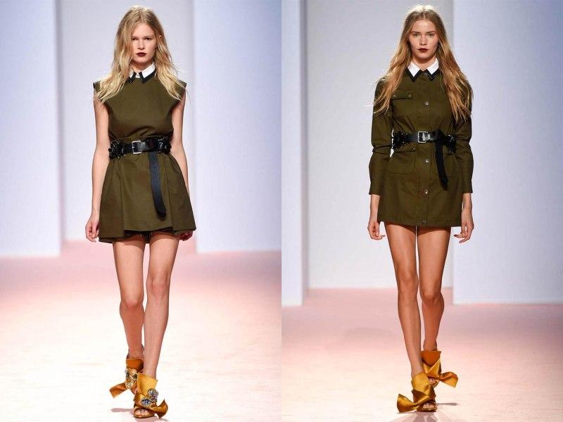 take-me-to-blog-tendances-2015-ready-to-wear-summer-ete-mode-kaki-militaire-green-dress-robes-tuniques-no21-anna-ewers-kristin-kragh-liljegran